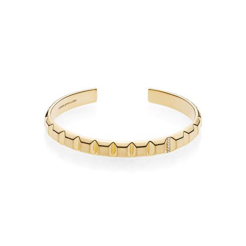 Utzon Jewellery Copenhagen - Pyramidearmring i 18 karat guld med brillanter. Det perfekte smykke til hende.
