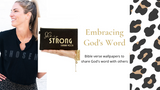 Embracing God's Word - Free Bible Verse Wallpapers
