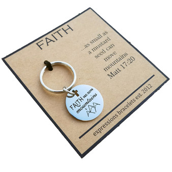Mini Key Chain Faith Can Move Mountains