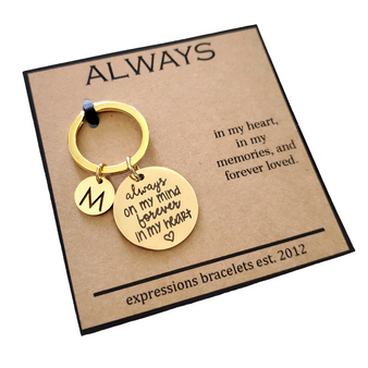 In Memory of Gold Key Chain Charm