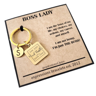 Hustle Personalized Empowerment Mantra Key Charm