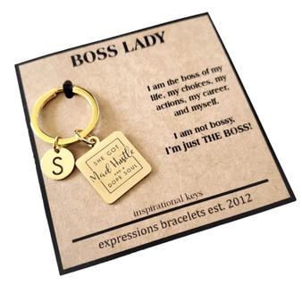 Hustle Personalized Empowerment Mantra Key Charm
