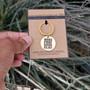 Gold Charm Key Wake Pray Serve Slay