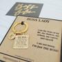 Boss Lady Personalized Empowerment Mantra Key Charm