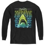Jaws Da Dum Youth Long Sleeve T-Shirt Black