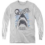 Jaws Big Game Fishing Youth Long Sleeve T-Shirt Athletic Heather