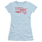 Jaws Bigger Boat Junior Women's T-Shirt Light Blue