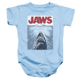 Jaws Graphic Poster Baby Onesie T-Shirt Light Blue