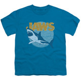 Jaws Day Glow Youth T-Shirt Turquoise