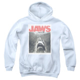 Jaws Classic Fear Youth Pullover Hoodie Sweatshirt White