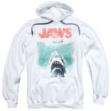Jaws Vintage Poster Adult Pullover Hoodie Sweatshirt White