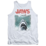 Jaws Vintage Poster Adult Tank Top T-Shirt White