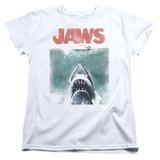 Jaws Vintage Poster Women's T-Shirt White