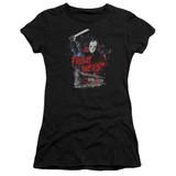 Friday the 13th Cabin Junior Women's T-Shirt Black