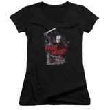 Friday the 13th Cabin Junior Women's V-Neck T-Shirt Black