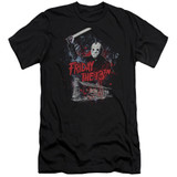 Friday the 13th Cabin Premium Adult 30/1 T-Shirt Black