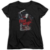 Friday the 13th Cabin Women's T-Shirt Black