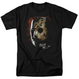 Friday the 13th Mask Of Death Adult 18/1 T-Shirt Black