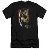Friday the 13th Mask Of Death Premium Adult 30/1 T-Shirt Black