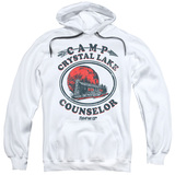 Friday the 13th Camp Counselor Adult Pullover Hoodie Sweatshirt White