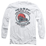 Friday the 13th Camp Counselor Adult Long Sleeve T-Shirt White