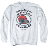 Friday the 13th Camp Counselor Adult Crewneck Sweatshirt White