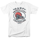 Friday the 13th Camp Counselor Adult 18/1 T-Shirt White