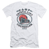 Friday the 13th Camp Counselor Adult 30/1 T-Shirt White