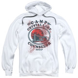 Friday the 13th Camp Counselor Victim Adult Pullover Hoodie Sweatshirt White