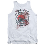Friday the 13th Camp Counselor Victim Adult Tank Top T-Shirt White