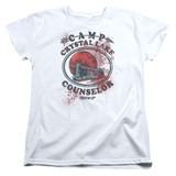 Friday the 13th Camp Counselor Victim Women's T-Shirt White