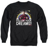 A Nightmare on Elm Street Follow Your Dreams Adult Crewneck Sweatshirt Black