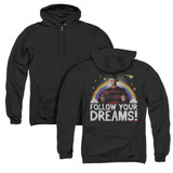 A Nightmare on Elm Street Follow Your Dreams (Back Print) Adult Zipper Hoodie Sweatshirt Black
