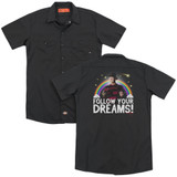 A Nightmare on Elm Street Follow Your Dreams (Back Print) Adult Work Shirt Black