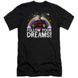 A Nightmare on Elm Street Follow Your Dreams Adult 30/1 T-Shirt Black