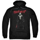 Friday the 13th Chchch Ahahah Adult Pullover Hoodie Sweatshirt Black