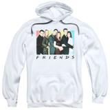 Friends Cast Logo Adult Pullover Hoodie Sweatshirt White