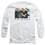 Friends Cast Logo Adult Long Sleeve T-Shirt White