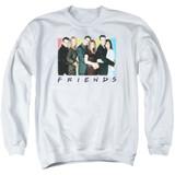 Friends Cast Logo Adult Crewneck Sweatshirt White