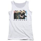 Friends Cast Logo Junior Women's Tank Top T-Shirt White