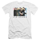 Friends Cast Logo Premuim Canvas Adult Slim Fit 30/1 T-Shirt White