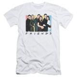 Friends Cast Logo Adult 30/1 T-Shirt White
