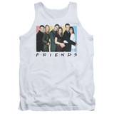 Friends Cast Logo Adult Tank Top T-Shirt White
