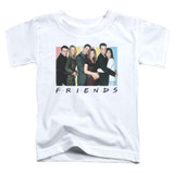 Friends Cast Logo Toddler T-Shirt White