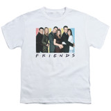 Friends Cast Logo Youth T-Shirt White