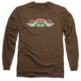 Friends Central Perk Logo Adult Long Sleeve T-Shirt Coffee