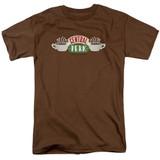 Friends Central Perk Logo Adult 18/1 T-Shirt Coffee