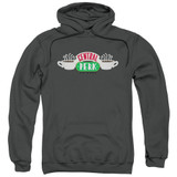 Friends Central Perk Logo Adult Pullover Hoodie Sweatshirt Charcoal