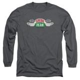Friends Central Perk Logo Adult Long Sleeve T-Shirt Charcoal