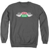 Friends Central Perk Logo Adult Crewneck Sweatshirt Charcoal